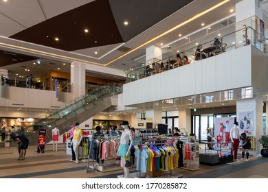Taichung City, Taiwan - JUL 04 2020 : Inside of Mitsui Outlet Park Taichung