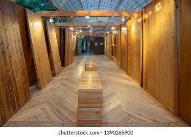 Taichung, DEC 20: Taiwan Wood Pavilion of Taichung World Flora Exposition on DEC 20, 2018 at Taichung