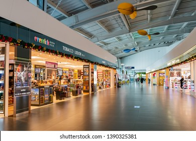 Taichung, DEC 21: Interior view of the Taichung International Airport on DEC 21, 2018 at Taichung