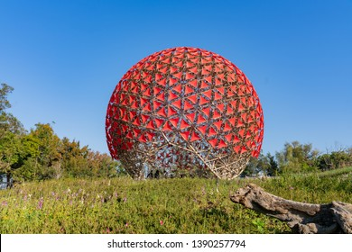 Taichung, DEC 22: The famous Machine flower of Taichung World Flora Exposition on DEC 22, 2018 at Taichung, Taiwan
