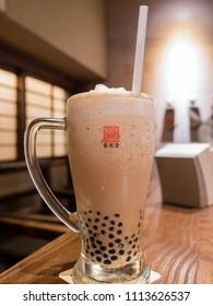 Taichung, MAY 25: Bubble Tea from the original store of Chun Shui Tang on MAY 25, 2018 at Taichung, Taiwan