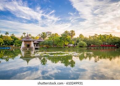 taichung pavilion at sunrise