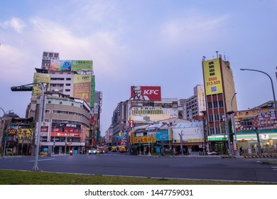 Taichung, Taiwan - 04 Mar 2019: Landscape of beautiful and peaceful Taichung City. Taichung is one of the largest cities of Taiwan