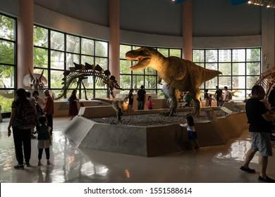 Taichung, Taiwan - 2 November, 2019. National Museum of Natural Science. Dianosur in natural science museum.