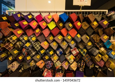 Taichung, Taiwan - 4 Mar 2019: A local store selling women's purses in Taichung, Taiwan. Taichung is one of the largest cities of Taiwan.