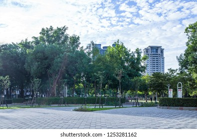 Taichung, Taiwan - Dec 9, 2018. Wen-Xin Forest Park. Every year, relevant art activities planned by the Taichung City Government are held here.