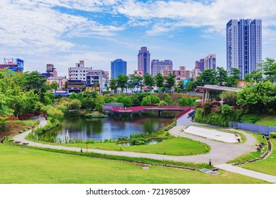TAICHUNG, TAIWAN - JULY 18: This is a view of Maple Garden a popular park in the downtown financial district area on July 18, 2017 in Taichung