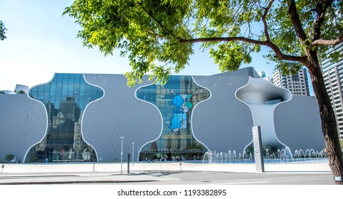Taichung, Taiwan(R.O.C) - October 01, 2018 - National Taichung Metropolitan Opera House, Taichung Theater, designed by Architect Toyo Ito.
