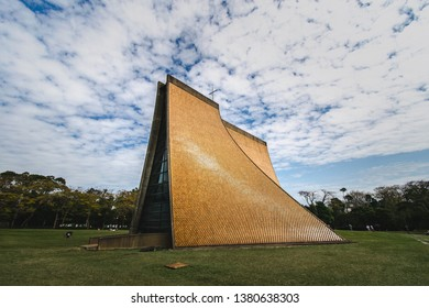 Taichung,Taichung City,Taiwan-02/19/2018:Luce Memorial Chapel,the land mark of Taichung City,Taiwan Designed by I. M. Pei.Famous for the four curved surfaces built.