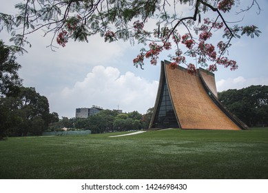 Taichung,Taichung City,Taiwan-05/14/2019:Luce Memorial Chapel,the land mark of Taichung City,Taiwan Designed by I. M. Pei.Famous for the four curved surfaces built.