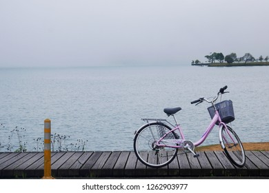 TAICHUNG,TAIWAN-14 MAR 2017 : Cycling is The Most Beautiful Trails at Sun moon lake,Taichung,Taiwan