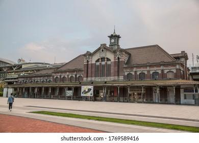 TAICHUNG,TAIWAN-Jul 4 2020: Taichung old train station.