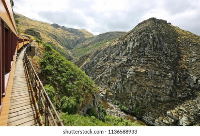 Taieri Gorge from the train , south island, New Zealand