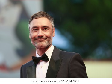 Taika Waititi walks the red carpet ahead of the 'At Eternity's Gate' screening during the 75th Venice Film Festival at Sala Grande on September 3, 2018 in Venice, Italy.