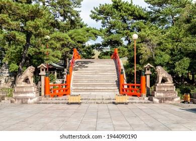 Taikobashi Bridge at the Sumiyoshi Grand Shrine in Osaka