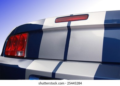 Tail end of sports car
