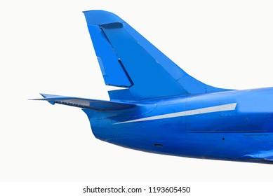 Tail plane on white background
