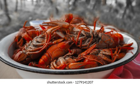 tailed boiled crayfish