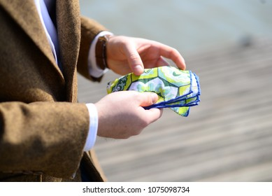 tailor made siut with handkerchief