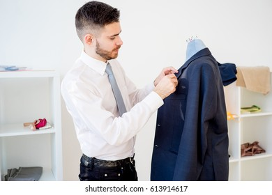 Tailor working on a tuxedo