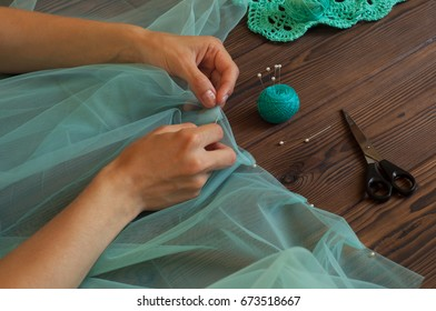 Tailor working at the studio, Concept of Handicraft, craft
