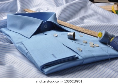 Tailored bespoke shirt close up