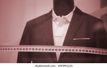 fa7138caf Tailor s shop window made to measure tailored suit store mannequin with  formal shirt and tie with