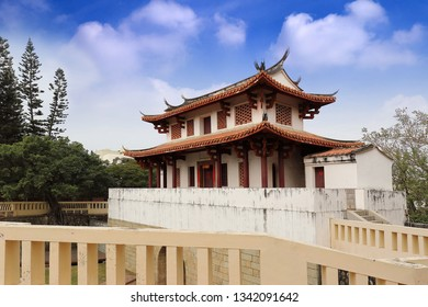 Tainan City , Taiwan - January 27th,2019 : Tainan Great South Gate is one of Tainan's most well preserved city gates. The outer barbican entrance to the city was shaped like a moon to aid in fighting.