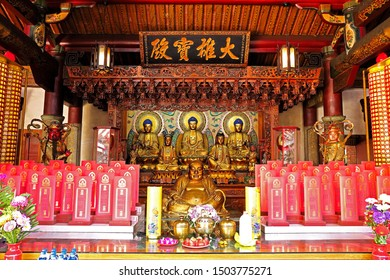 Tainan City, Taiwan - January 27th,2019 :  Grand Guanyin Pavilion