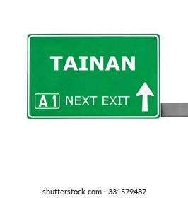 TAINAN road sign isolated on white