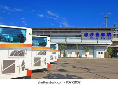 Tainan Station of Taiwan High Speed Rail and Shalun Station of Taiwan Railway