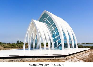 Tainan, Taiwan - Agust 17, 10 2017: Beimen Crystal Church in Tainan, Taiwan