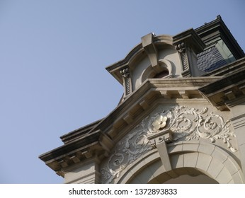 Tainan Taiwan - APRIL 9, 2019: Japanese Colonial building W2 Culture Center Tainan
