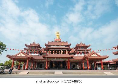 Tainan, Taiwan - Feb 18 2020 - Xinying Taizi Temple in Yanshuei District, Tainan, Taiwan. Temple was originally built in 1688, New Temple built in 1992.