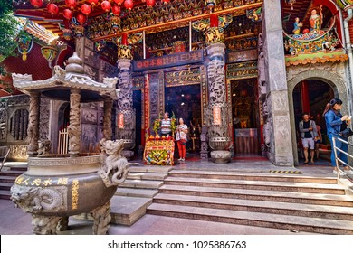 TAINAN, TAIWAN - NOVEMBER 4, 2017: Lady Linshui's Temple on 4 November 2017 in Tainan, Taiwan. Tainan?s Lady Linshui Temple in Tainan County are among oldest and most important Linshui temples