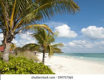 Taino beach in Freeport town on Grand Bahama Island.