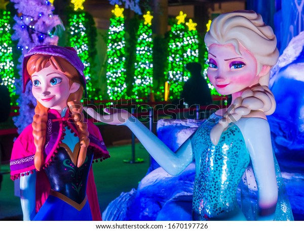 TAIPE , TAIWAN - DEC 11 : Display for the movie Frozen in Taipei Taiwn on December 11 2017. Frozen is an American computer-animated musical fantasy film