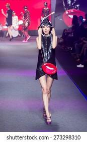 Taipei City , Taiwan ,  April , 9th , 2015 : Taipei in style fashion show models on runway,