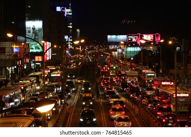 Taipei City, Taiwan - December 14 2012: The traffic jam in Taipei when rush hour.