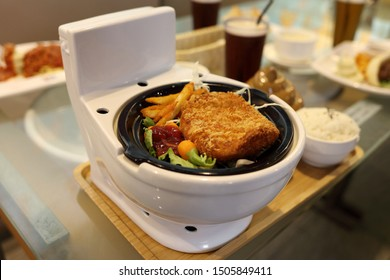 Taipei City,Taiwan - Aug 5th,2019 : Modern Toilet signature hot pot at Modern Toilet Restaurant