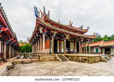 The Taipei Confucius Temple in Datong District, Taipei, Taiwan.  Temple was originally built in 1879 during the Qing era, and rebuilt in 1930.
