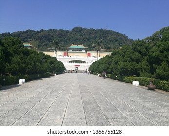 Taipei historical building attraction National Palace Museum(Gu gong museum) in Taipei, Taiwan