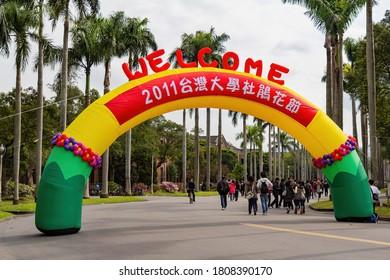 Taipei, MAR 5, 2011 - Entrance sign of the Azalea Festival 2011