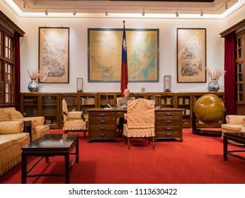 Taipei, MAY 22: Interior view of the Chiang Kai-shek Memorial Hall on MAY 22, 2018 at Taipei, Taiwan