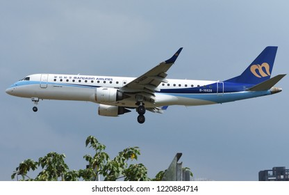 Taipei - May 27, 2018: Embraer 190-100IGW operated by Mandarin Airlines