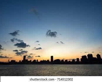 Taipei skyline at sunset