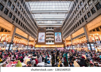 Taipei Station, Taiwan - March 17, 2019 : Taipei Station is the main transportation hub for both the city and for northern Taiwan.