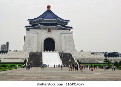 Taipei, TAIWAN - 30 April, 2016 : Chiang Kai-shek Memorial Hall, One of the most popular tourist destinations in Taipei, the main feature of this hall is the large statue of Chiang Kai-shek.