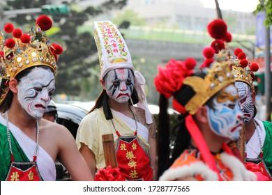 Taipei, Taiwan – April 12, 2014: Holy generals parade on Matsu Temple Fair