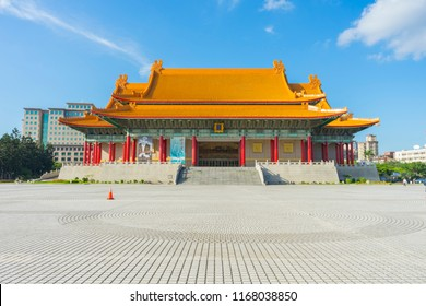 TAIPEI, TAIWAN - Aug 6,2018 : Day view of National Concert Hall at Chiang Kai-shek Memorial Hall on August 6,2018 in Taipei,Taiwan.